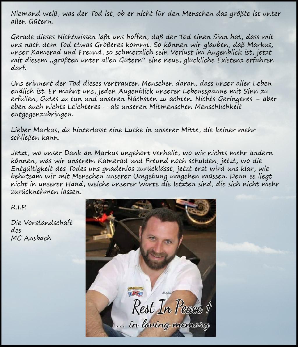 R.I.P. Markus